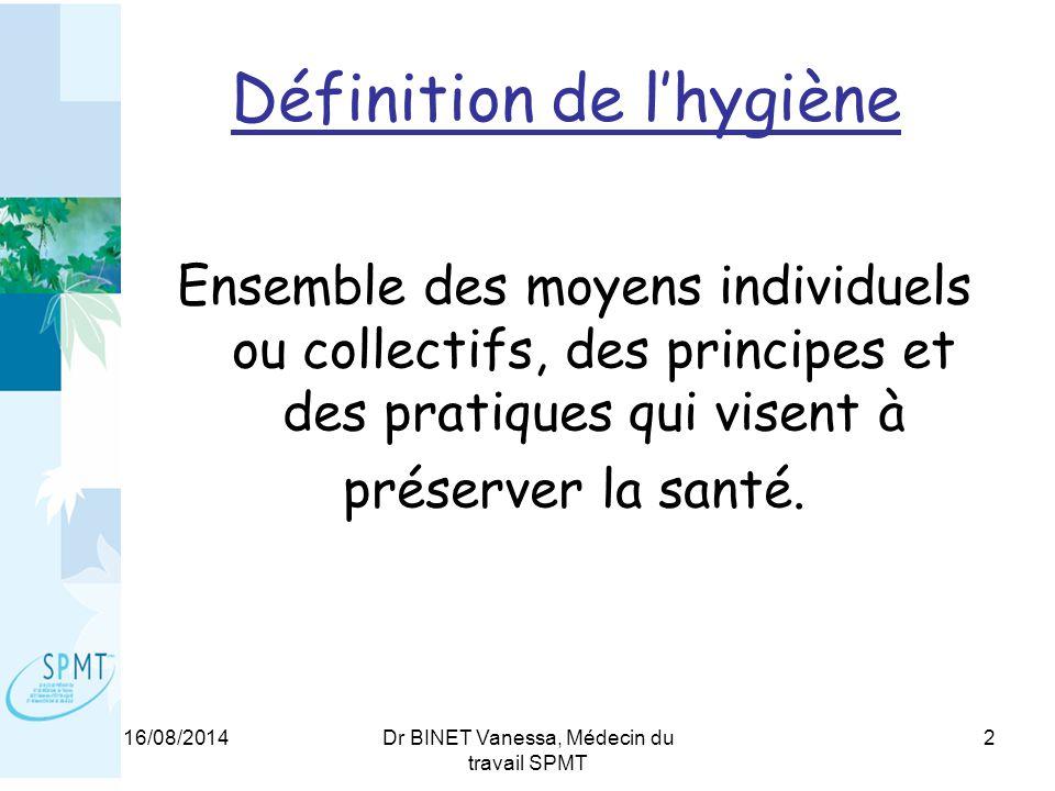 Définition de l'hygiène
