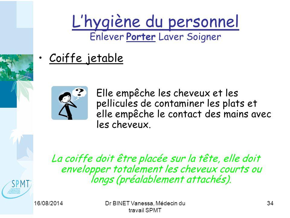 L'hygiène du personnel Enlever Porter Laver Soigner