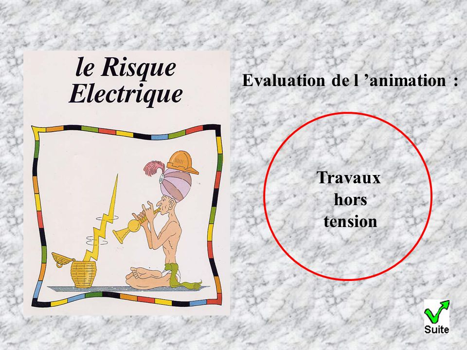Evaluation de l 'animation :