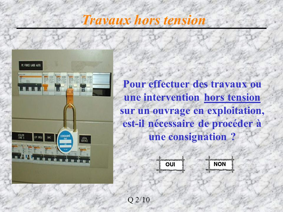 Travaux hors tension