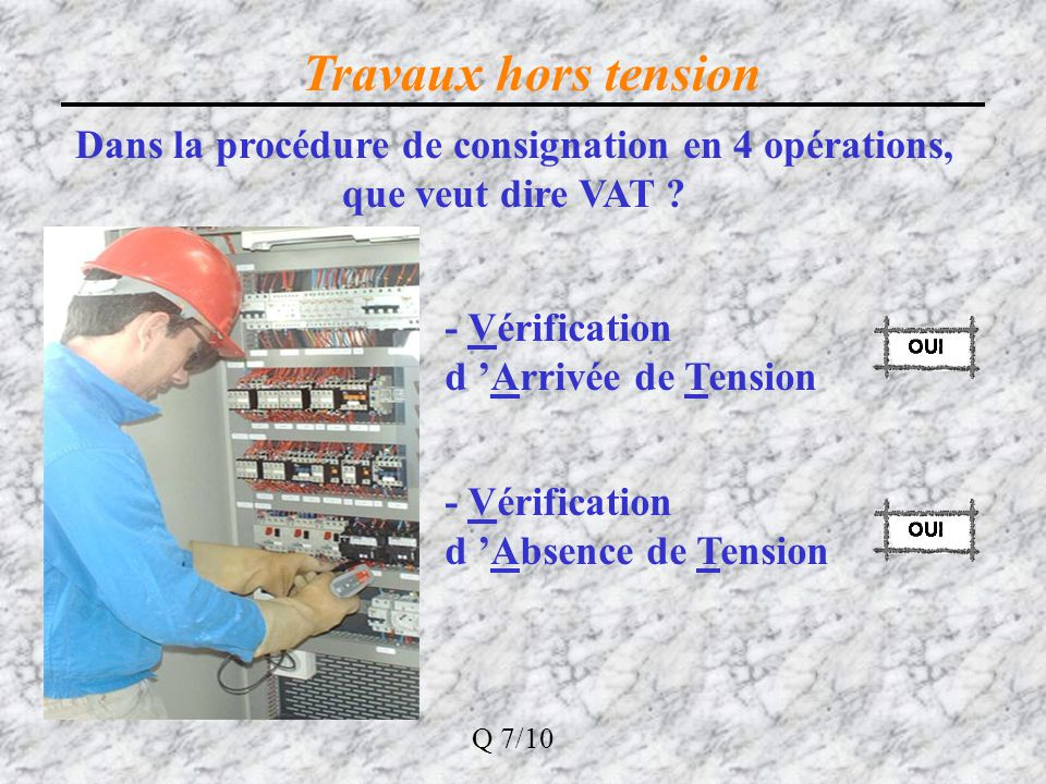 Dans la procédure de consignation en 4 opérations, que veut dire VAT