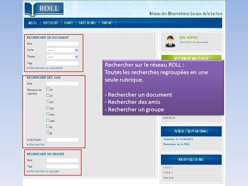 Rechercher sur le réseau ROLL :