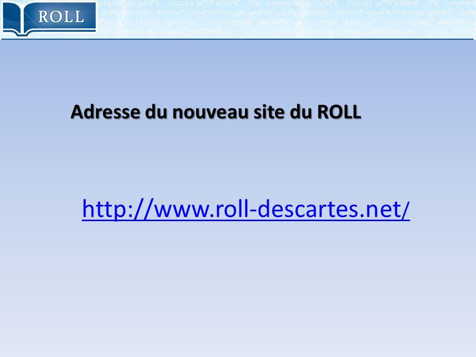 Adresse du nouveau site du ROLL