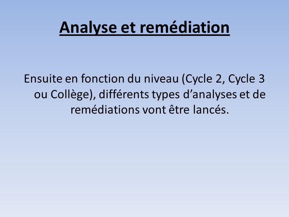 Analyse et remédiation