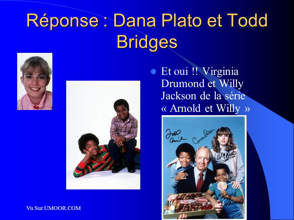 Réponse : Dana Plato et Todd Bridges