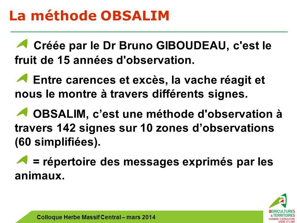 La méthode OBSALIM Créée par le Dr Bruno GIBOUDEAU, c est le fruit de 15 années d observation.