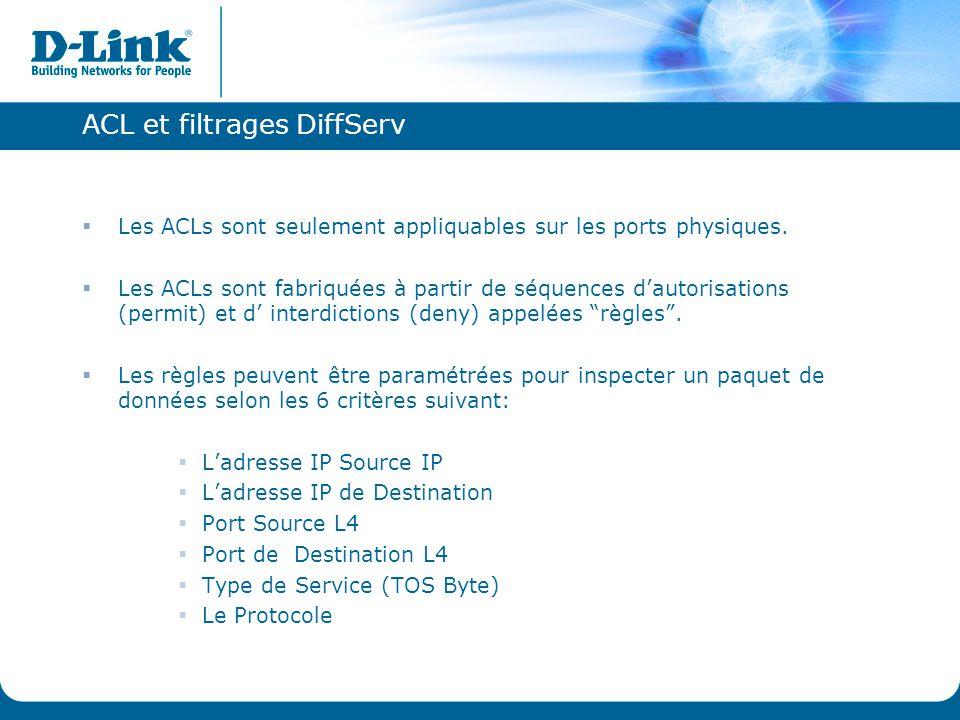 ACL et filtrages DiffServ