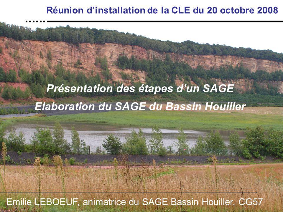 Réunion d'installation de la CLE du 20 octobre 2008