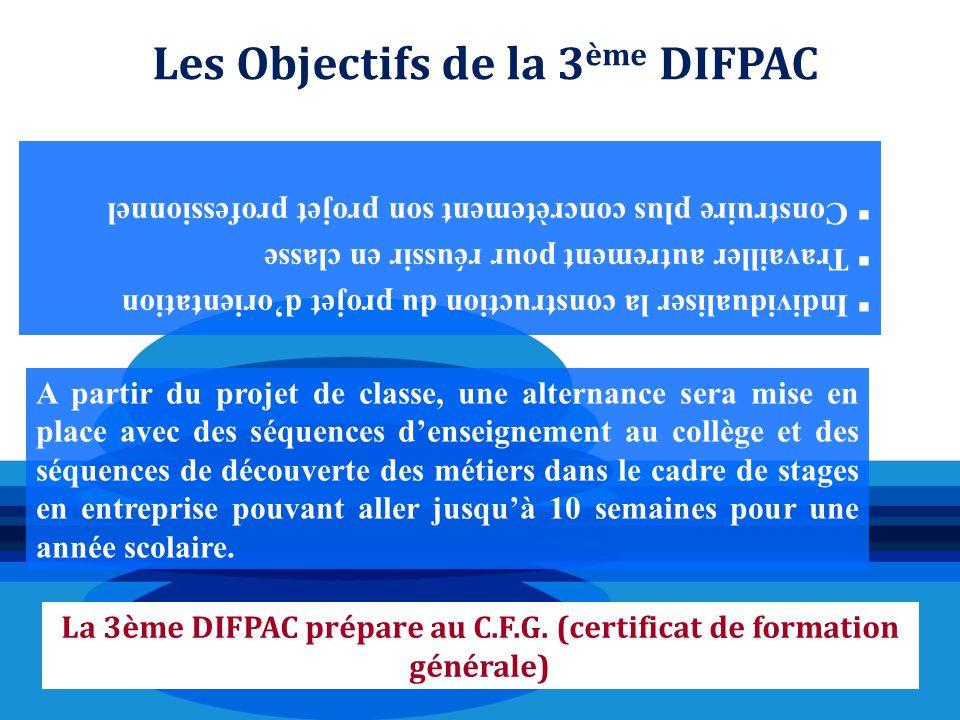 Les Objectifs de la 3ème DIFPAC