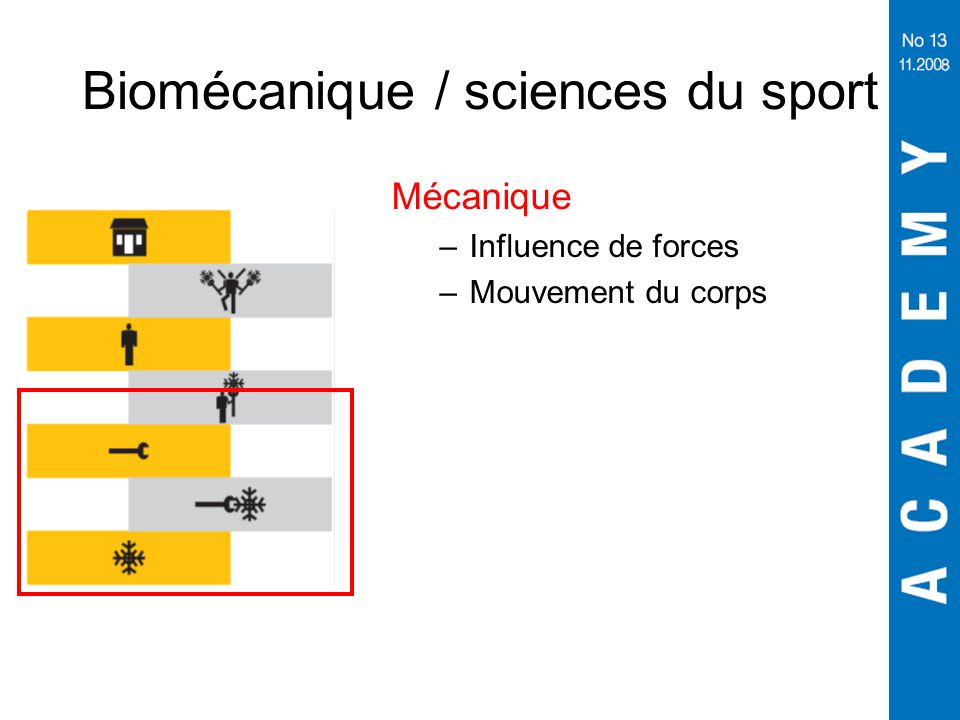 Biomécanique / sciences du sport