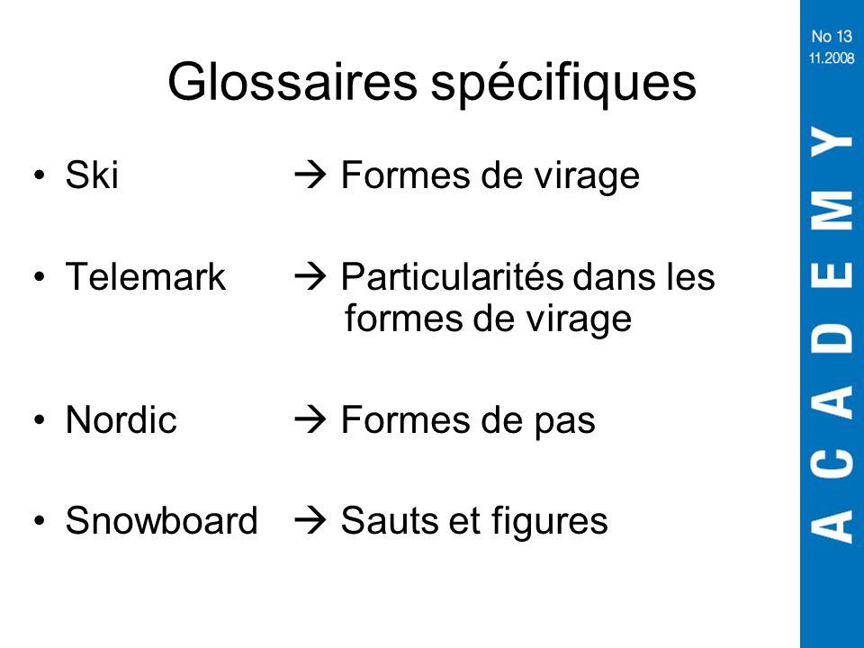 Glossaires spécifiques