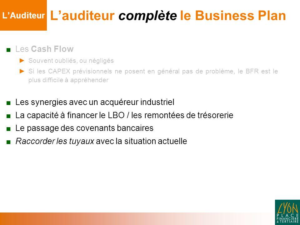 L'auditeur complète le Business Plan