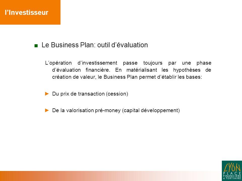 Le Business Plan: outil d'évaluation