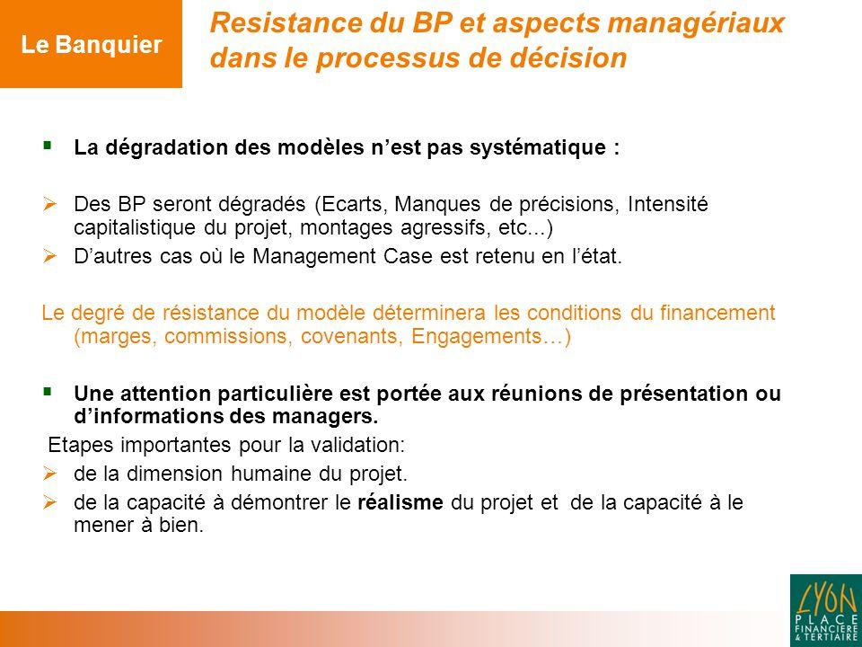 Resistance du BP et aspects managériaux dans le processus de décision