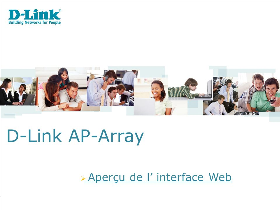 D-Link AP-Array Aperçu de l' interface Web