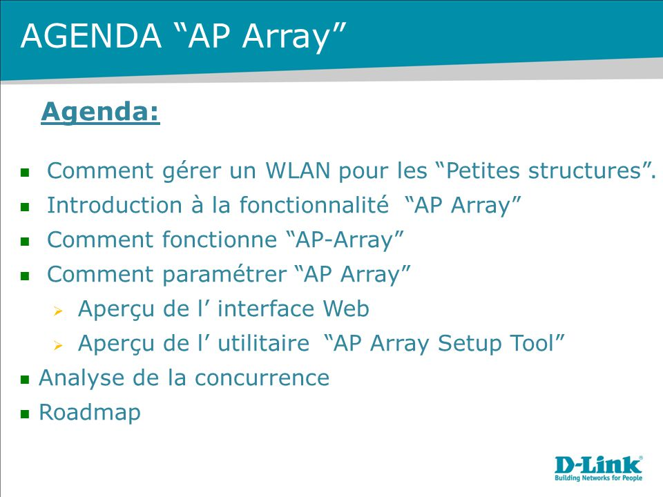 AGENDA AP Array Agenda: