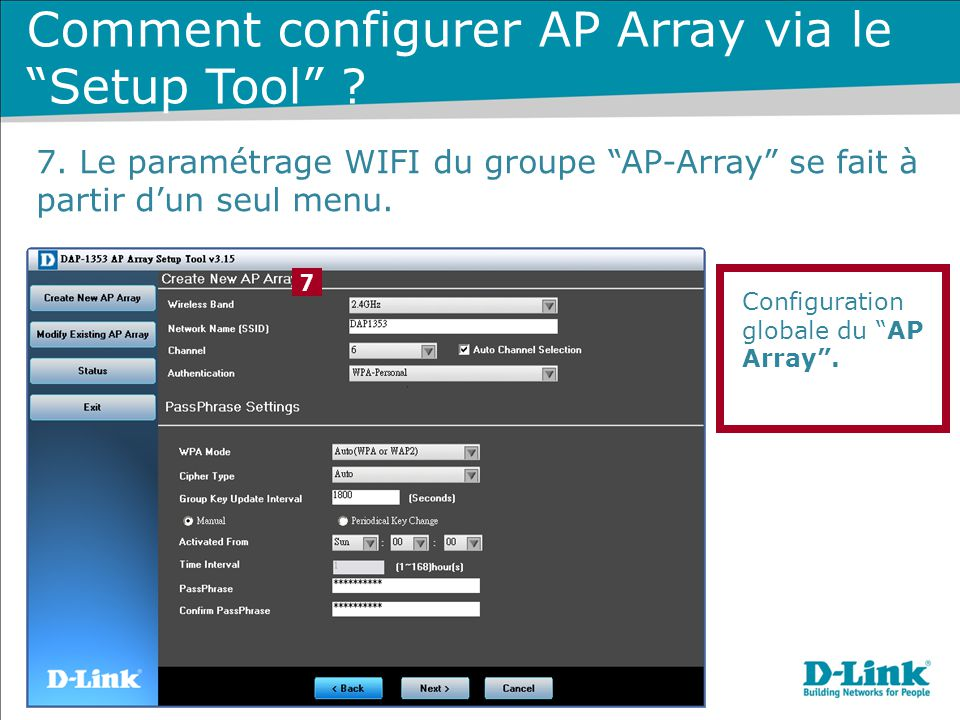 Comment configurer AP Array via le Setup Tool