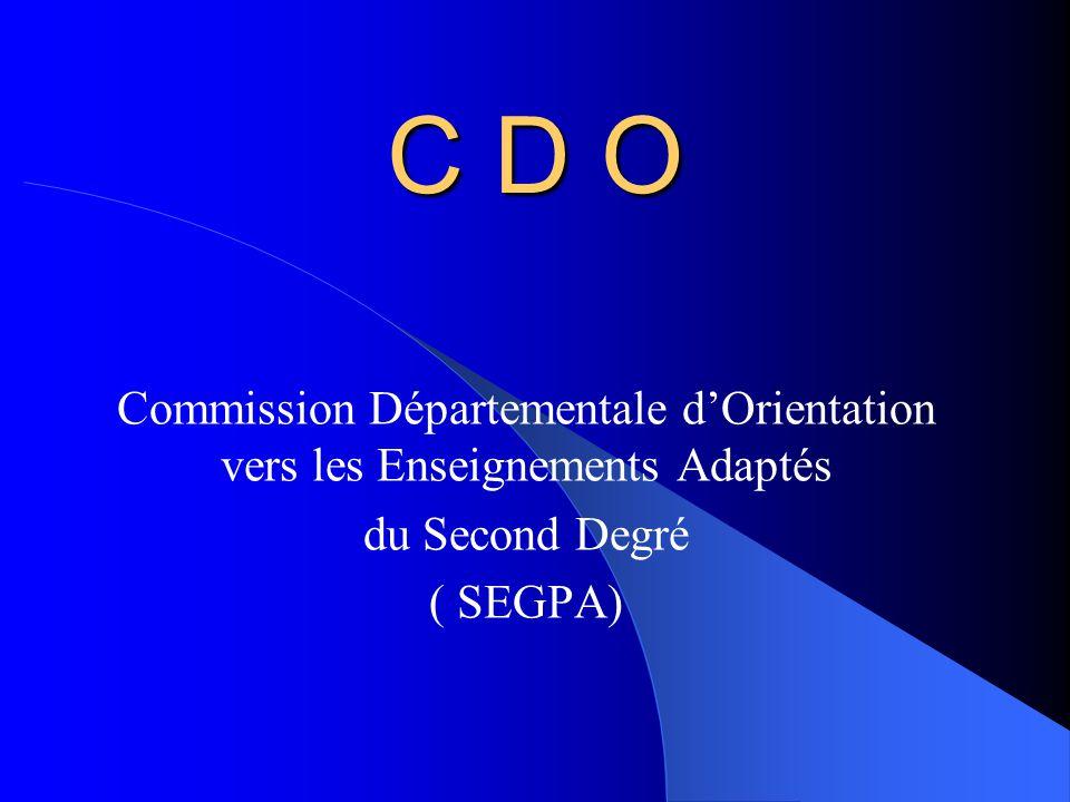 Commission Départementale d'Orientation vers les Enseignements Adaptés