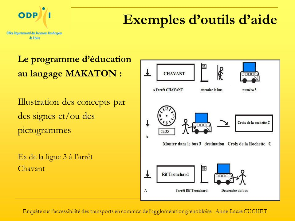 Exemples d'outils d'aide