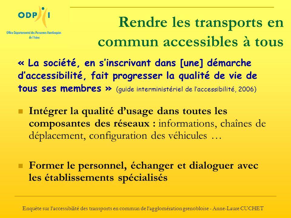 Rendre les transports en commun accessibles à tous