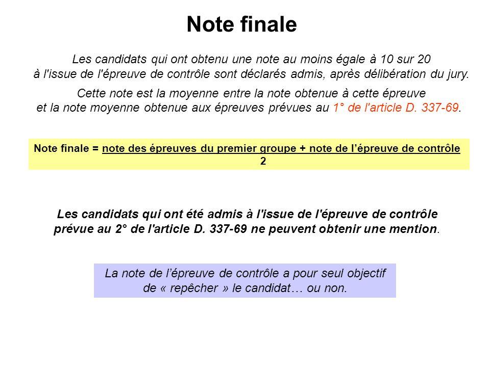 Note finale