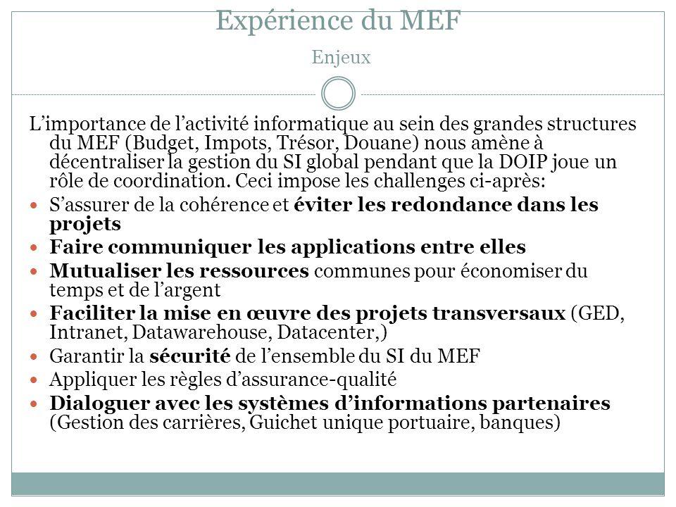Expérience du MEF Enjeux