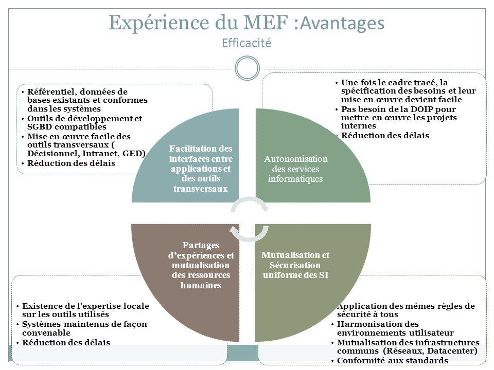 Expérience du MEF :Avantages Efficacité