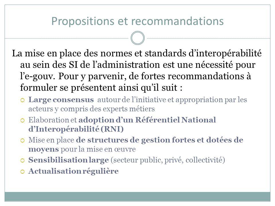 Propositions et recommandations