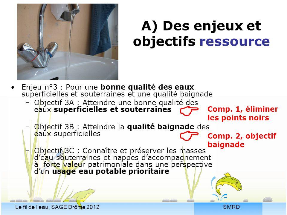 A) Des enjeux et objectifs ressource