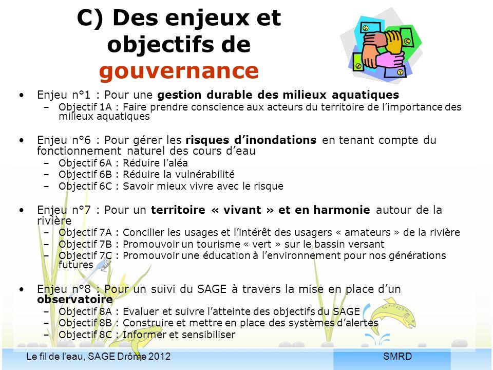 C) Des enjeux et objectifs de gouvernance