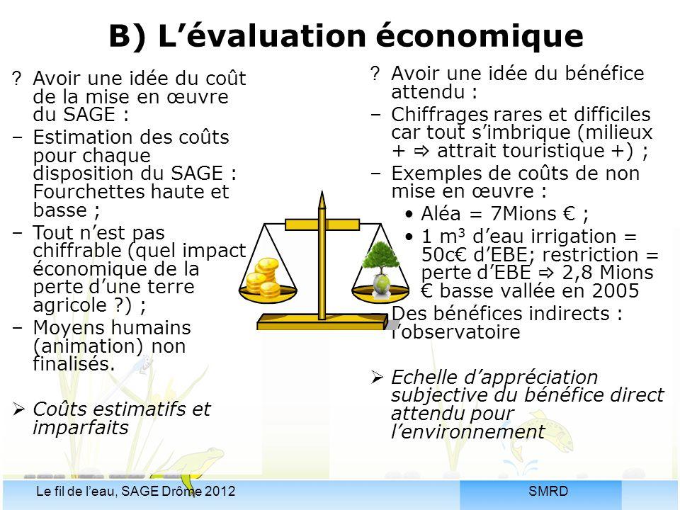 B) L'évaluation économique