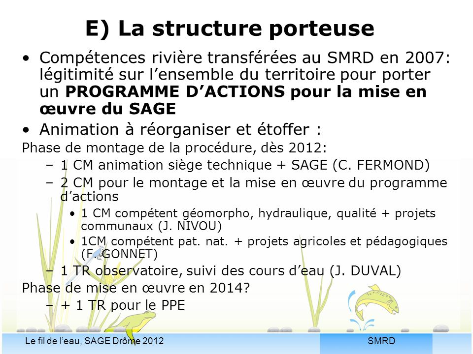 E) La structure porteuse