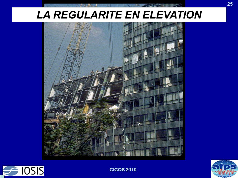 LA REGULARITE EN ELEVATION