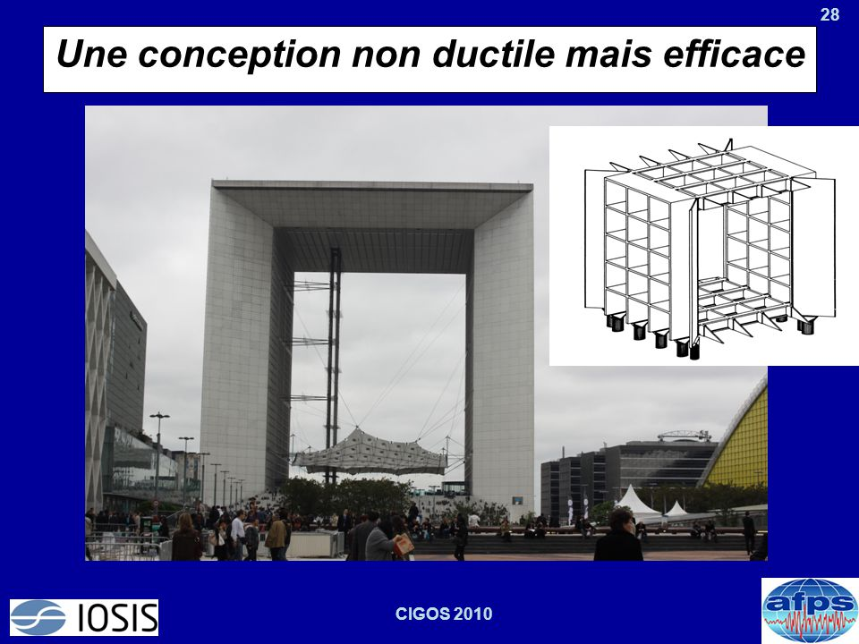 Une conception non ductile mais efficace