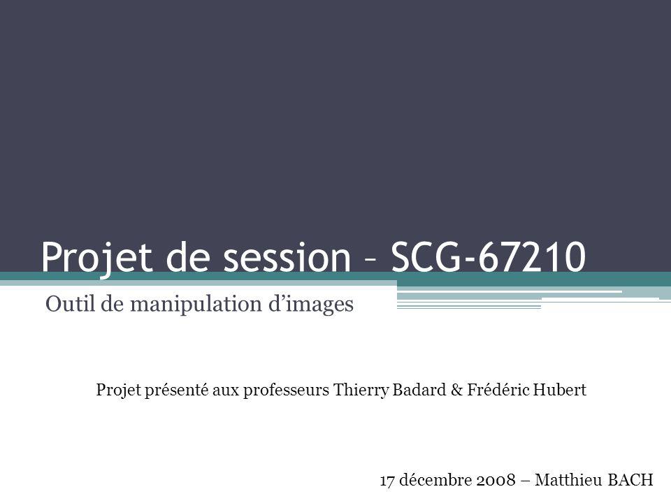 Projet de session – SCG-67210
