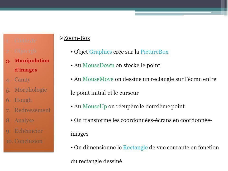 Objet Graphics crée sur la PictureBox Au MouseDown on stocke le point