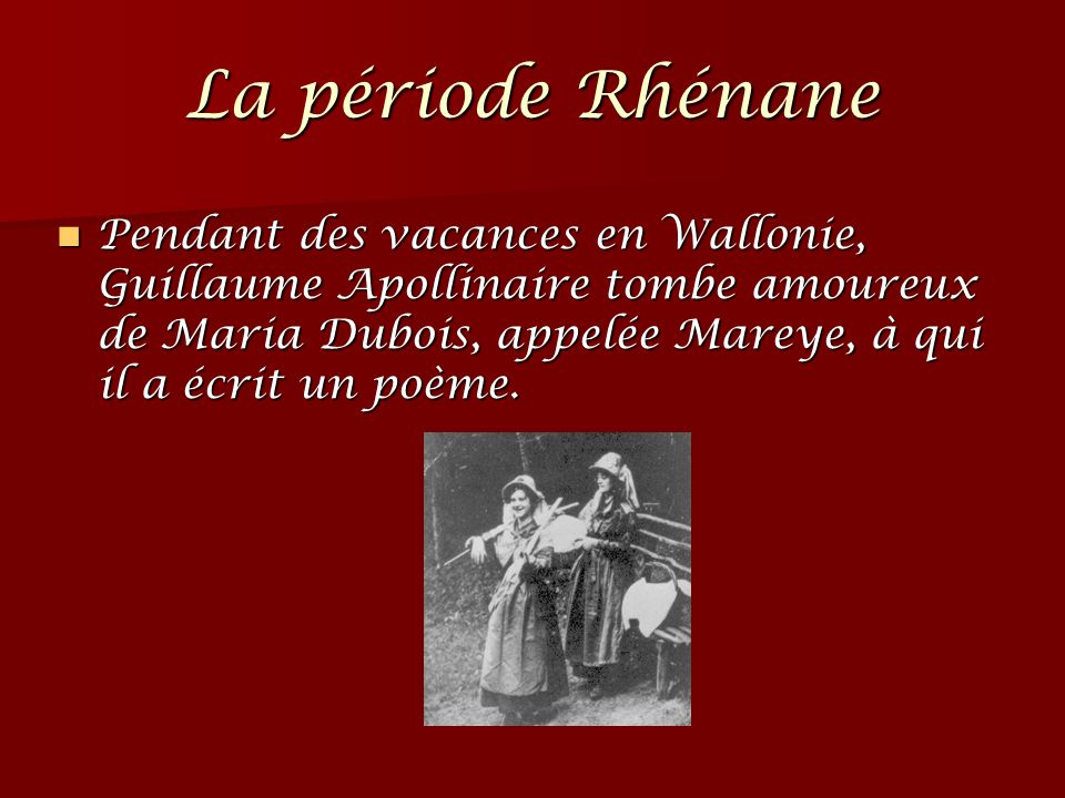 La période Rhénane