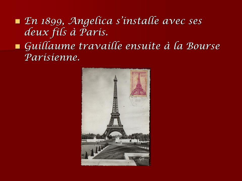En 1899, Angelica s'installe avec ses deux fils à Paris.