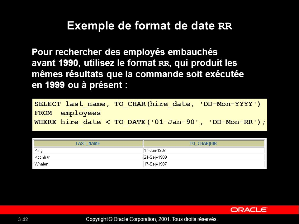 Exemple de format de date RR