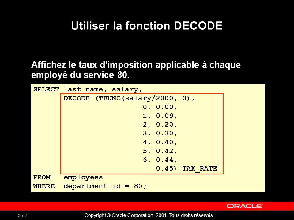 Utiliser la fonction DECODE