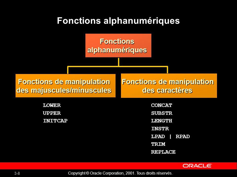 Fonctions alphanumériques