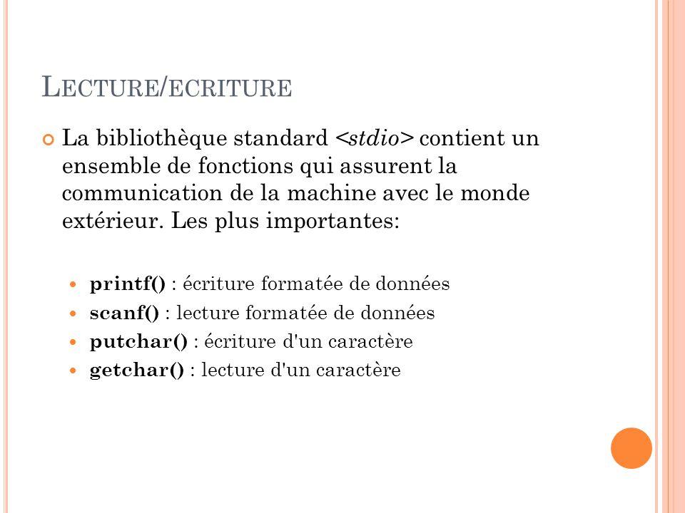 Lecture/ecriture