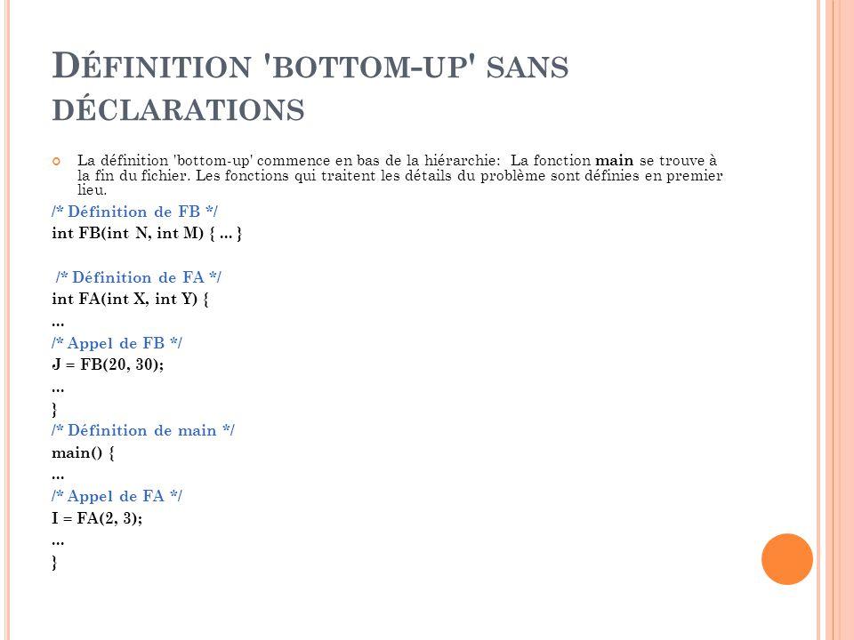 Définition bottom-up sans déclarations