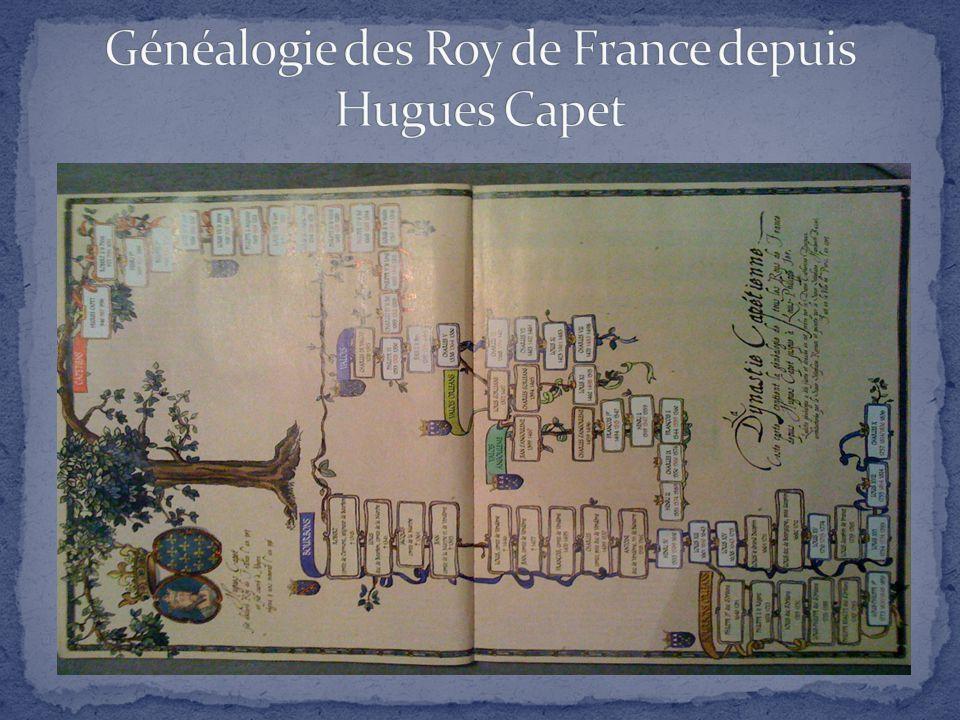 Généalogie des Roy de France depuis Hugues Capet