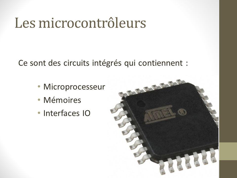 Les microcontrôleurs Ce sont des circuits intégrés qui contiennent :