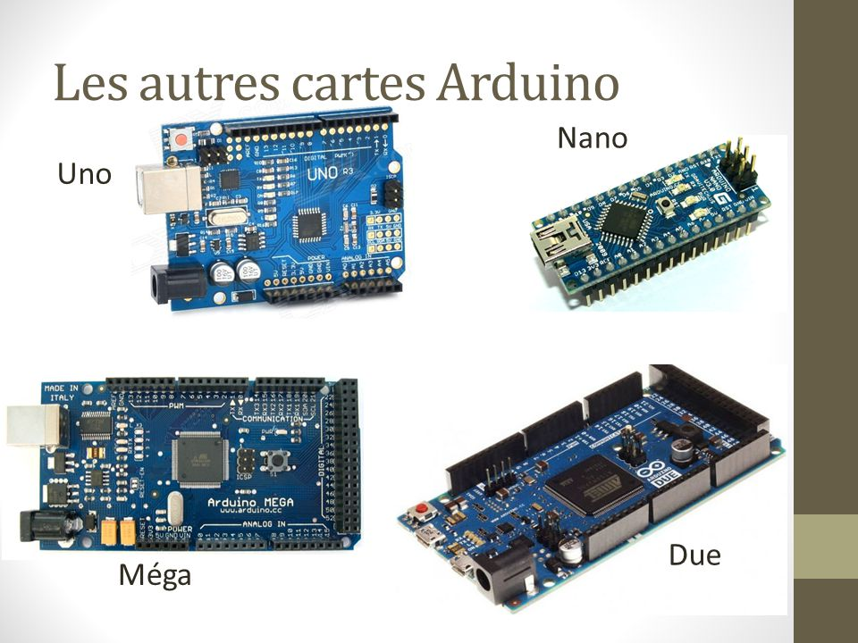 Les autres cartes Arduino