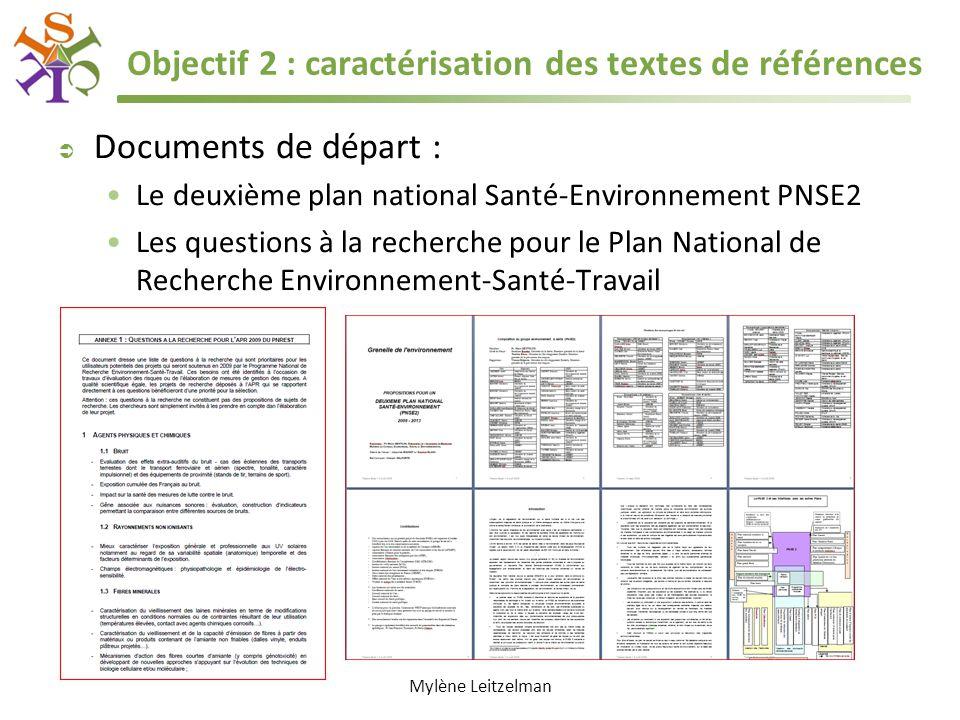 Objectif 2 : caractérisation des textes de références