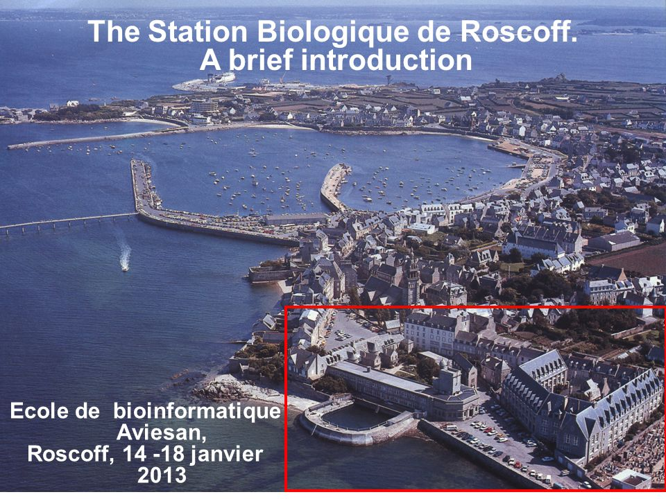 The Station Biologique de Roscoff. Ecole de bioinformatique Aviesan,