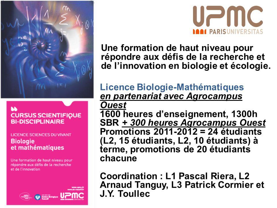 Une formation de haut niveau pour répondre aux défis de la recherche et de l'innovation en biologie et écologie.
