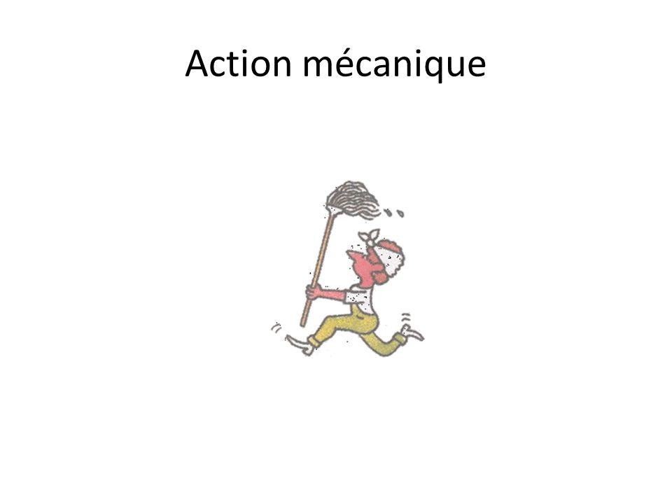 Action mécanique En physique, lorsqu un objet agit sur un autre, on parle d action mécanique.